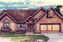 Home Plan - Bungalow Exterior - Front Elevation Plan #320-305