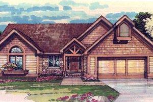 Bungalow Exterior - Front Elevation Plan #320-305