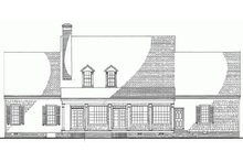 Southern Exterior - Rear Elevation Plan #137-152