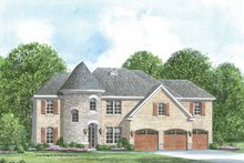 European Exterior - Front Elevation Plan #952-204