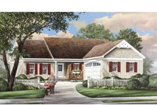 Home Plan - Ranch Exterior - Front Elevation Plan #137-364