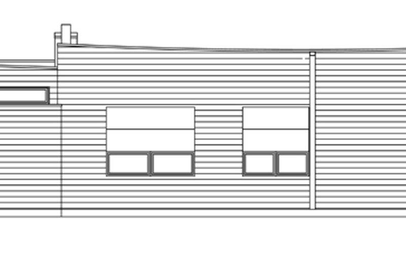 Contemporary Exterior - Rear Elevation Plan #484-12 - Houseplans.com