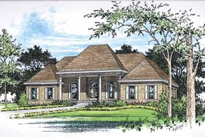 Classical Exterior - Front Elevation Plan #15-379