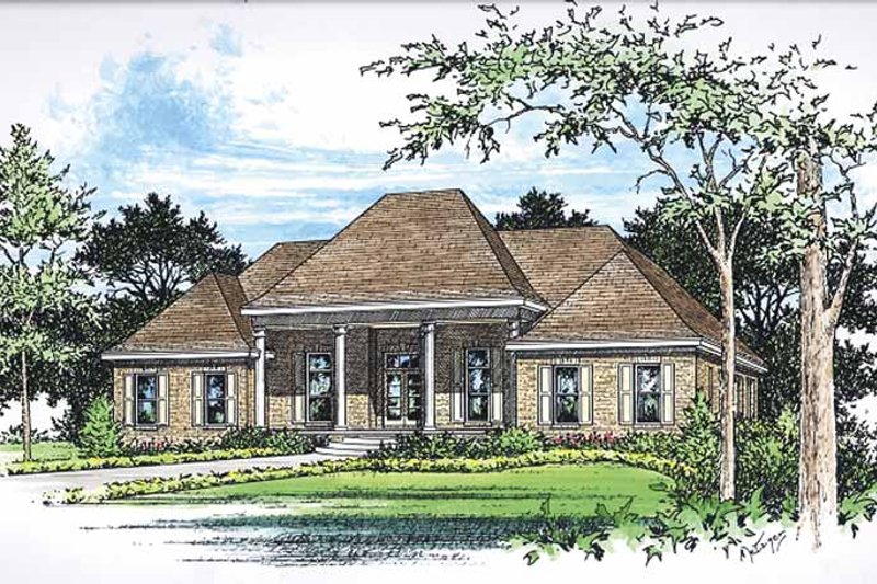 Dream House Plan - Classical Exterior - Front Elevation Plan #15-379