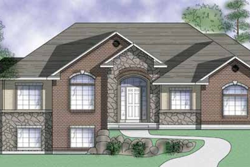 Country Exterior - Front Elevation Plan #945-14