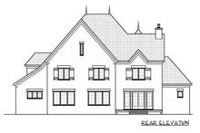 European Exterior - Rear Elevation Plan #413-148