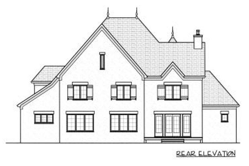 European Exterior - Rear Elevation Plan #413-148 - Houseplans.com