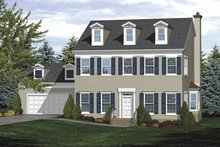 Classical Exterior - Front Elevation Plan #320-831