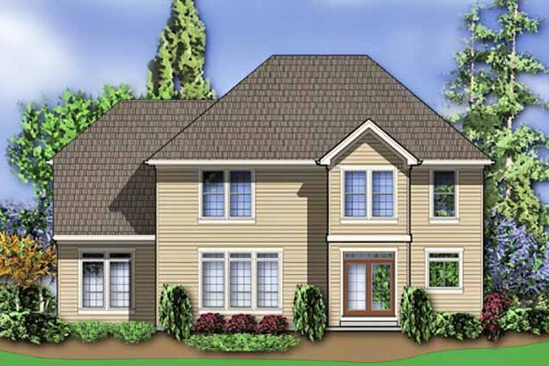 Country Exterior - Rear Elevation Plan #48-839 - Houseplans.com