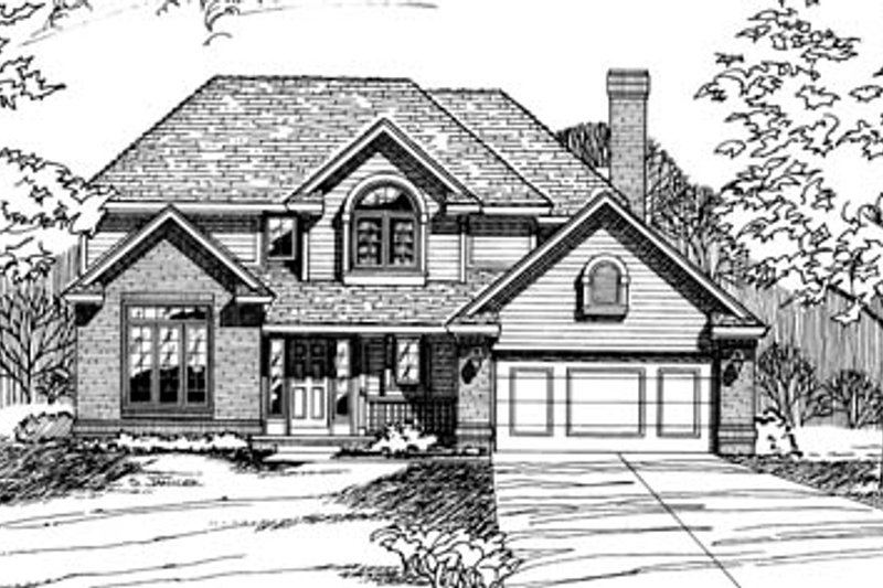 Traditional Exterior - Front Elevation Plan #20-279 - Houseplans.com