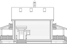 Log Exterior - Rear Elevation Plan #124-503
