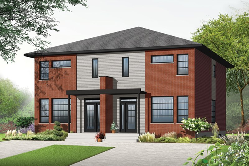 Architectural House Design - Contemporary Exterior - Front Elevation Plan #23-2598