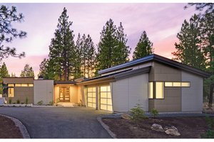 Dream House Plan - Contemporary Exterior - Front Elevation Plan #892-18