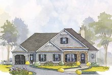 Colonial Exterior - Front Elevation Plan #429-444