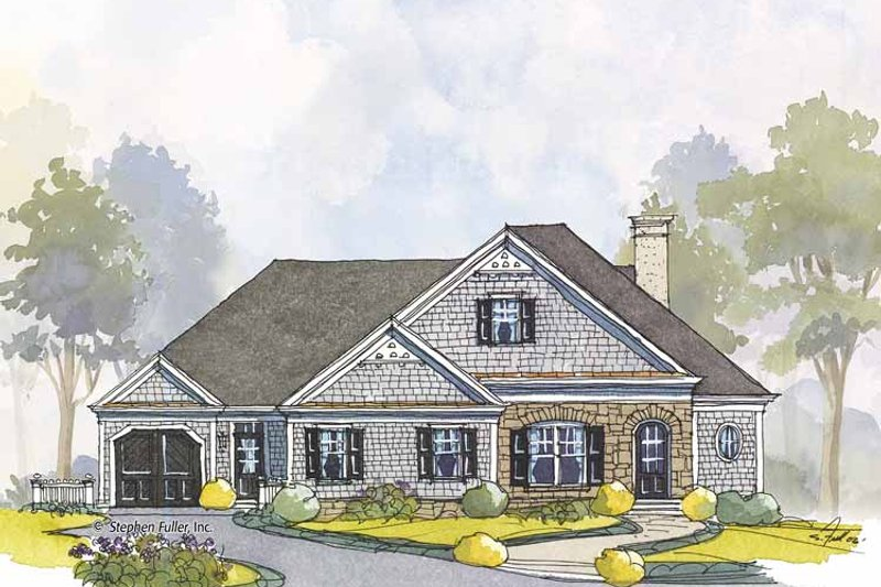Colonial Exterior - Front Elevation Plan #429-444 - Houseplans.com