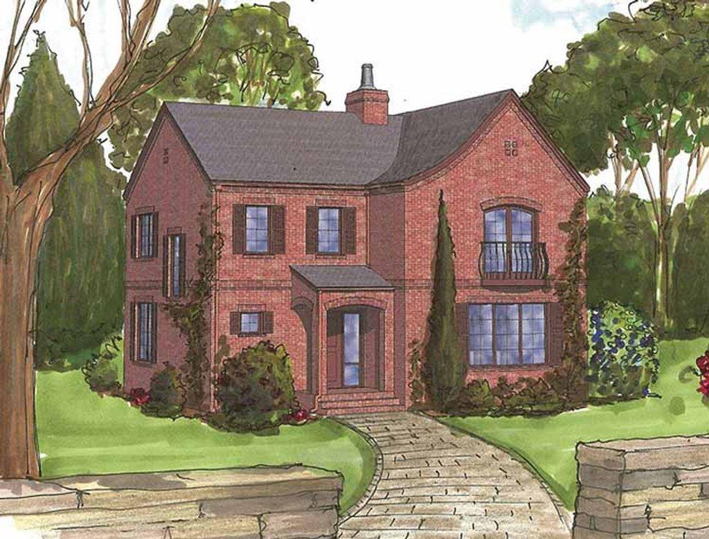 Tudor style house plan 3 beds 2 5 baths 2250 sq ft plan for Tudor house plans