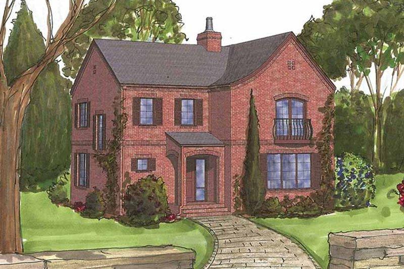 Tudor Exterior - Front Elevation Plan #1042-10 - Houseplans.com
