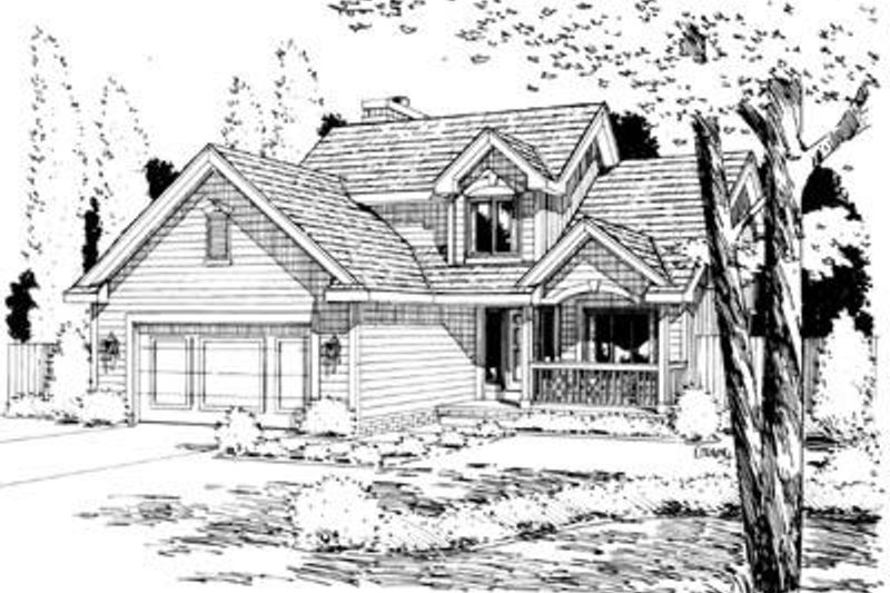 Traditional Exterior - Front Elevation Plan #20-529 - Houseplans.com