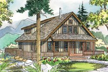 Cottage Exterior - Front Elevation Plan #124-473