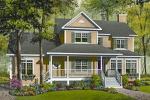 Traditional Exterior - Front Elevation Plan #23-845