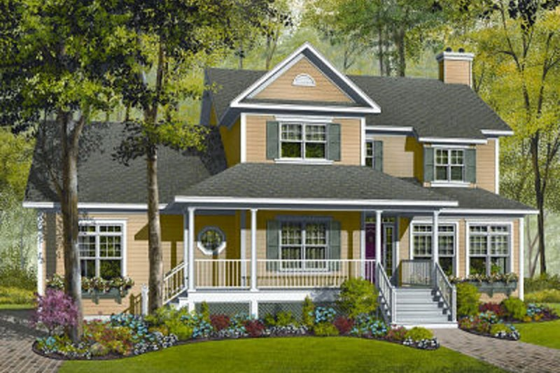 Dream House Plan - Traditional Exterior - Front Elevation Plan #23-845