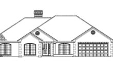 Ranch Exterior - Front Elevation Plan #17-2624