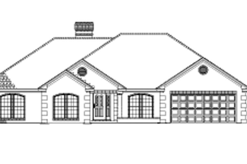 Ranch Exterior - Front Elevation Plan #17-2624 - Houseplans.com