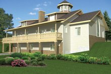 House Plan Design - Colonial Exterior - Rear Elevation Plan #117-845