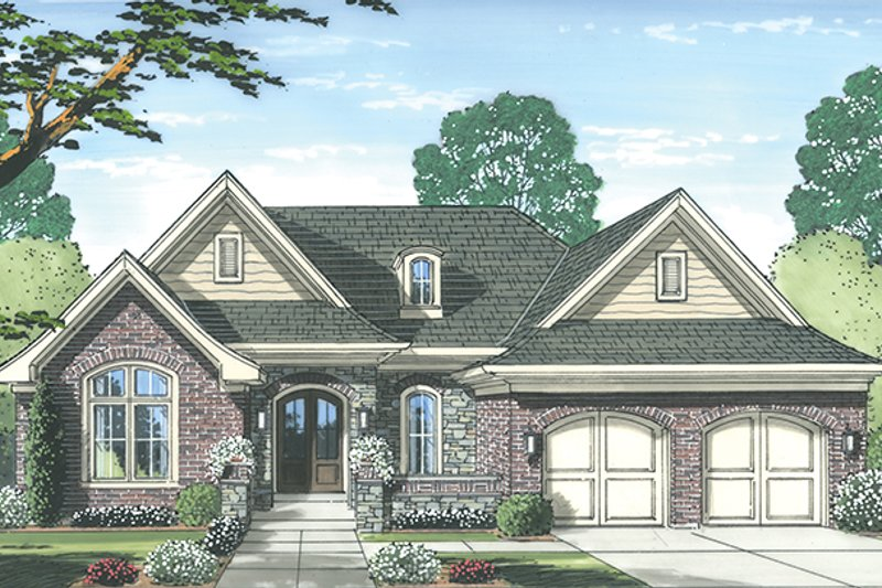 Architectural House Design - Traditional Exterior - Front Elevation Plan #46-847
