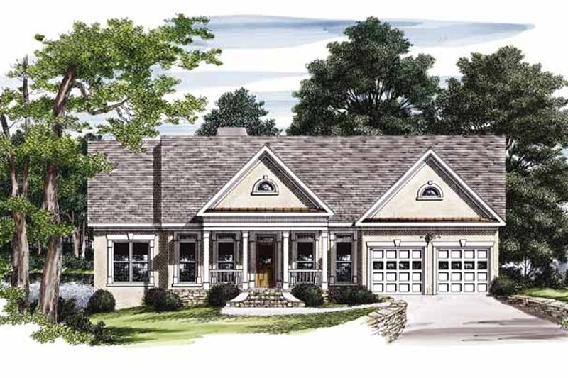 Country Exterior - Front Elevation Plan #927-213
