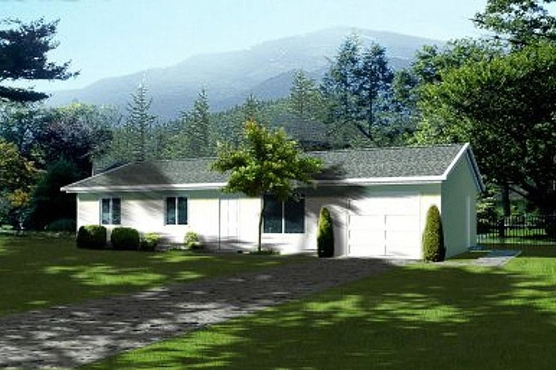 House Blueprint - Ranch Exterior - Front Elevation Plan #1-150