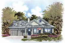Colonial Exterior - Front Elevation Plan #999-168