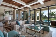 Mediterranean Style House Plan - 4 Beds 4.5 Baths 3042 Sq/Ft Plan #930-458 Interior - Family Room
