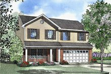 House Design - Country Exterior - Front Elevation Plan #17-3074