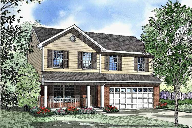 Country Exterior - Front Elevation Plan #17-3074