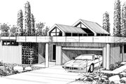Modern Style House Plan - 3 Beds 2 Baths 2228 Sq/Ft Plan #509-13 Exterior - Front Elevation