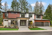 Contemporary Style House Plan - 5 Beds 4.5 Baths 4039 Sq/Ft Plan #1066-14 Exterior - Front Elevation
