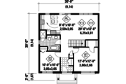 Contemporary Style House Plan - 2 Beds 1 Baths 900 Sq/Ft Plan #25-4271