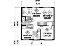 Contemporary Floor Plan - Main Floor Plan Plan #25-4271