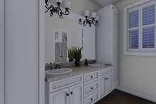 House Plan Design - Ranch Interior - Master Bathroom Plan #1060-11