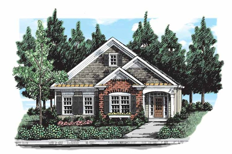 Country Exterior - Front Elevation Plan #927-300