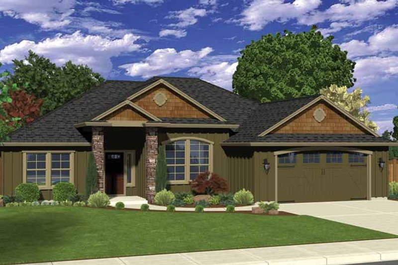 Ranch Exterior - Front Elevation Plan #943-33