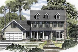 Home Plan - Colonial Exterior - Front Elevation Plan #316-138