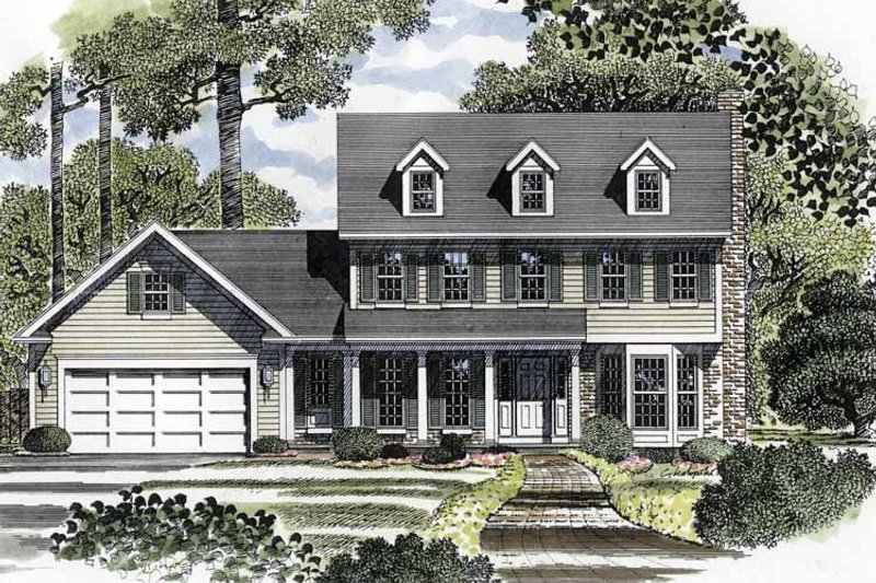 Colonial Exterior - Front Elevation Plan #316-138