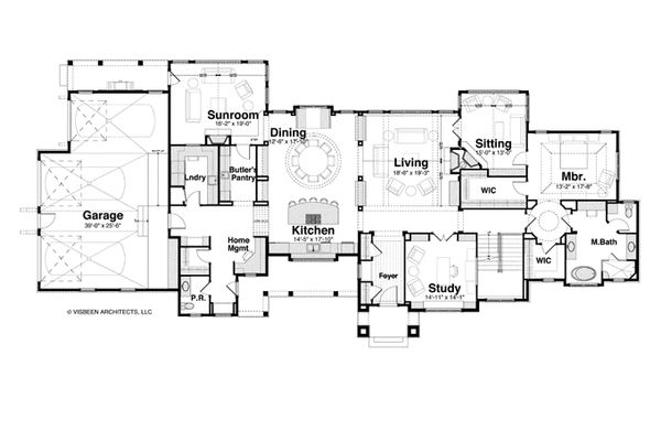 Country Floor Plan - Main Floor Plan Plan #928-264