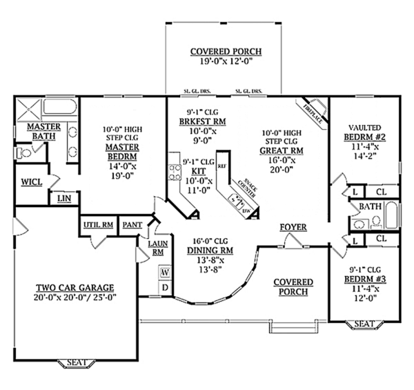 House Plan Design - Country Floor Plan - Main Floor Plan #314-278