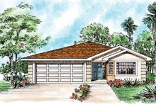 Mediterranean Exterior - Front Elevation Plan #72-1042