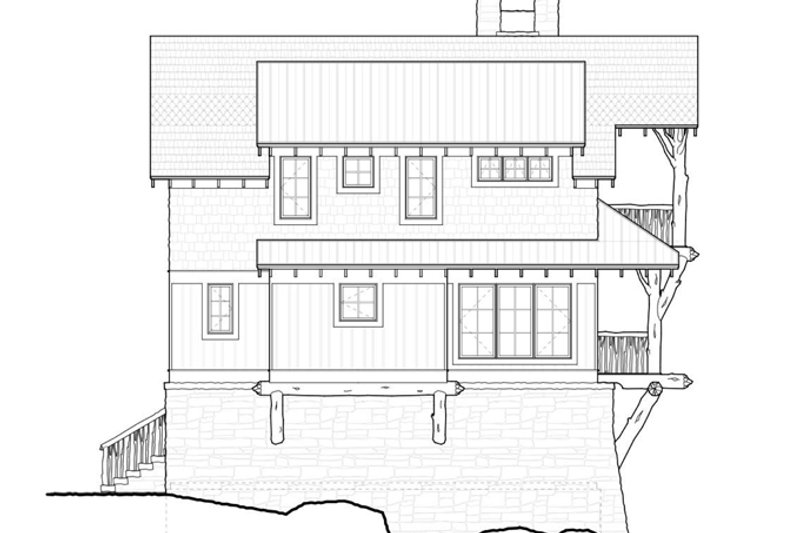 Cabin Exterior - Other Elevation Plan #928-246 - Houseplans.com