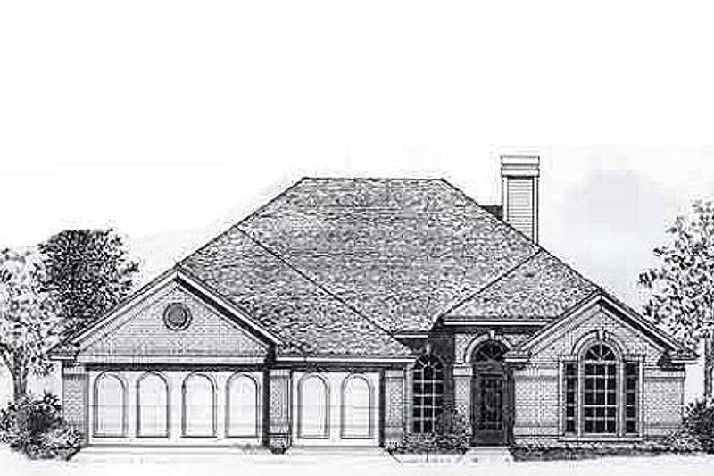 Traditional Style House Plan - 4 Beds 2 Baths 2043 Sq/Ft Plan #310-798 Exterior - Front Elevation