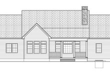 Ranch Exterior - Rear Elevation Plan #1010-142